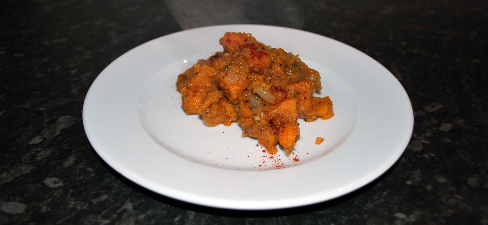 Sweet Potato Crush flavoured with Ras al Hanout