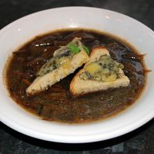 Beer Soup with Stilton Toasts