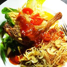 Duck Leg with Sweet Chilli Sauce