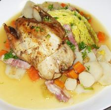 Partridge with Cabbage & Artichokes
